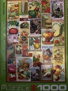 Eurographics 1000 Piece Smithsonian Vegetables Seed Catalogue Collection Puzzle