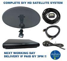 HD Freesat Sky Caravan Satellite System Complete Set Dish,Receiver Satfinder