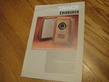 "TANNOY  ""Edinburgh""  loudspeaker ad flyer"