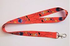"""Sesame Street Characters Collage and Name 19"""" Repeat Lanyard"""