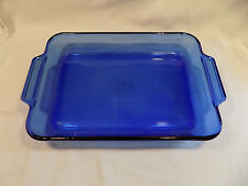 Cobalt Blue Anchor (Hocking) Large 2 Quart Open Baking Casserole Dish
