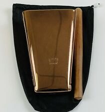 Hand Held Cowbell Chrome Painted Rose Gold Color With Pouch And Stick Tp#4