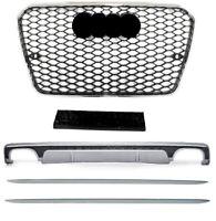 Für Audi A7 4G 14-18 RS7 Look Wabengrill + S7 Look Diffusor + Seitenschweller #5