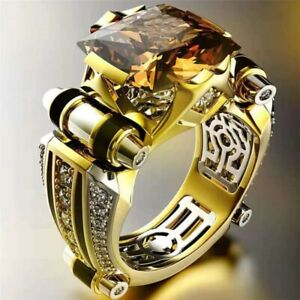 Punk Men/'s Women/'s Gold Silver Simulated Copper Finger Rings Wedding Jewelry