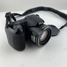 Nikon COOLPIX L810 Digital Camera Black  Lens cover Neck Strap, w Box