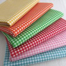 Gingham blenders by Makower - 6 Fat Quarter bundle 100% cotton fabric brights