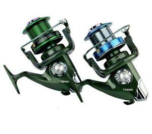 Long Range Fishing Reel Wheel Roller Coil Metal Spool EVA Handle 4.9:1 Strong S