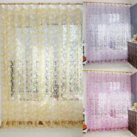 Chic Blatt Typ Tüll Tür Fenstervorhang ländlichen Blatt Design Vorhang Dekore