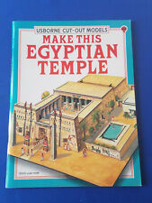 Vintage USBORNE CUT OUT MODELS MAKE THIS EGYPTIAN TEMPLE Scale Model *TM1