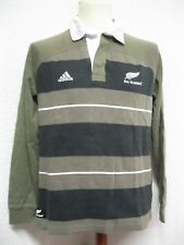 Ancien POLO MAILLOT ADIDAS ALL BLACKS NEW ZEALAND RUGBY NOUVELLE ZELANDE Jersey