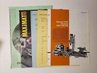 Emcomat 7-7L Maximat 10 Instruction Book & Catalog Sheets, Pamphlet