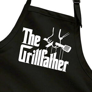 The GrillFather Funny Dad Grill Godfather BBQ Father's Day Gift Grilling Apron