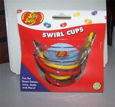Jelly Belly Snow Cone Swirl Cups 2 in Package ~ Fun for Juice Soda and More! ~