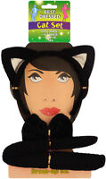 Cat set 3 Piece with Ears Bow Tie and tail Fancy Dress Hen Night Headband Kitty
