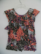 3dd9ef83c1a7 Epic Threads Floral Layered Ruffle Cap sleeve Top Blouse Juniors L