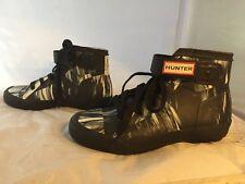 NEW Hunter Boot Original Rubber Black High-Top Sneaker, Women Size 5 (3 UK) $250