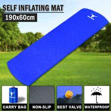 Self Inflating Mattress Sleeping Pad Mat Air Bed Camping Camp Hiking Single LU