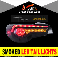Fit Toyota 86 For Subaru BRZ 2012-16 Smoked LED Tail Light Sequential Indicator