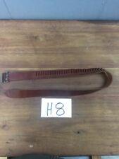 """Vintage Brauer Bros 15s 22C 30 Round Cartridge Belt Great Condition 30"""" Brown LR"""