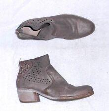 KHRIO bottines zippées cuir daim beige pailleté P 37 = 38 TBE