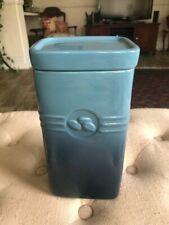 LE CREUSET MARINE Blue 2 QT COFFEE CAFE CANISTER STORAGE JAR