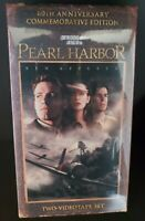 Pearl Harbor VHS 60th Anniversary Edition 2 Tape Set Ben Affleck WWII