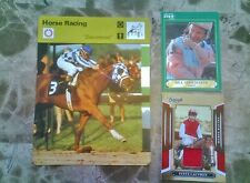 1977 SECRETARIAT SUPER NICE + 1991 SHOEMAKER + 2008 JERSEY CARD STEVE CAUTHEN #/