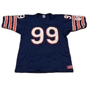 80s VTG CHICAGO BEARS RAWLINGS Dan Hampton L Mesh Jersey Made in USA NFL Blue