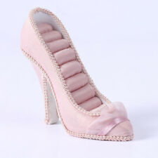 Pink High Heel Shoes Jewelry for Rings 8 Slots Insert Display Showcase