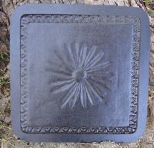Flower stepping stone mold plaster concrete garden mould