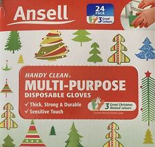 Ansell Handy Clean Multi-Purpose Powder Disposable Gloves (24 gloves)