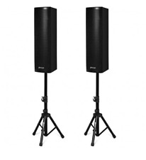 2000W Set of 2 Bi-Amplified Bluetooth Speakers PA System with 3-Channel w Stands