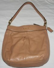 AUTHENTIC COACH F20114 ASHLEY Leather Hippie Crossbody Satchel in Camel Preowned
