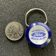 1984 Ford Cars and Trucks Buckle Up Seat Belt Campaign Keychain Key Ring #38115