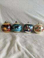 Lot of 4 Vintage Hallmark Christmas Ornaments 1978, 80 & 81