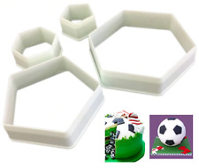 Hexagon & Pentagon Cookie Cutters Shape Football Biscuit Pastry Cake Bake 4 Pcs