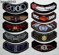 10 HARLEY DAVIDSON OWNERS GROUP HOG YEARS 2000 THROUGH 2009 VEST PATCH LOT