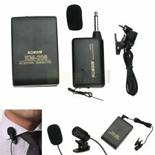 Wireless FM Transmitter Receiver Lavalier Lapel Clip Microphone Mic System