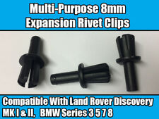 20x CLIPS For BMW SERIES 3 5 7 8 SILL BUMPER WHEEL ARCH BATTERY CABLE TRIM BLACK