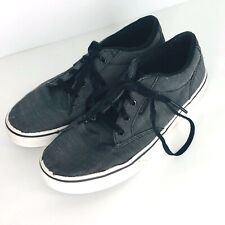 Vans Off the Wall Youth Gray Canvas Skate Shoes Size 5 Sneaker Tennis Shoe