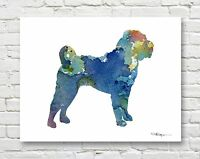 LONG COAT CHIHUAHUA Contemporary Watercolor Abstract ART Print by Artist DJR