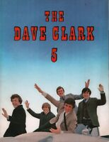 DAVE CLARK 5 CATCH US IF YOU CAN 1965 TOUR CONCERT PROGRAM BOOK BOOKLET/ VG 2 X