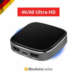 🔥 4K HDMI-Recorder in/out 1080p Videoaufnahme Capture Card Typ-C Übertragung