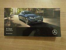 Mercedes Benz E Class Saloon Owners Handbook/Manual 16-17