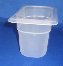 CAMBRO PLASTIC PREP FOOD TABLE INSERT 1/9 X 4 INCH PAN DISHWASHER SAFE, NEW