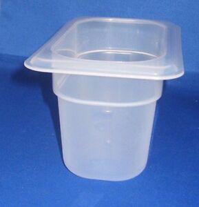 Cambro Plastik Prep Essen Tisch Einsatz 2.5/22.9X10.2cm Pan Spülmaschine Safe ,
