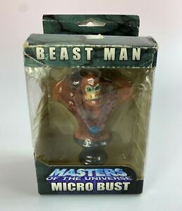 Beast Man MOTU 200X Masters Of The Universe Micro Bust New NIB 2004 NECA He-Man