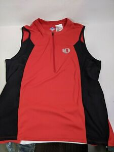 PEARL iZUMi Select Tri Cycling Jersey Sleeveless Red Size Large A-2