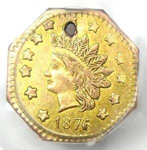 1876/5 Indian California Gold Dollar G$1 Coin BG-1129 - PCGS AU Detail (Holed)