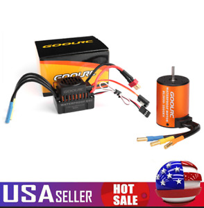 GoolRC 3500KV 1/10 Waterproof Brushless Motor w/ ESC Combo Set for RC Car Truck